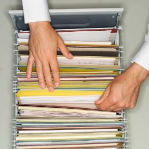 hands filing