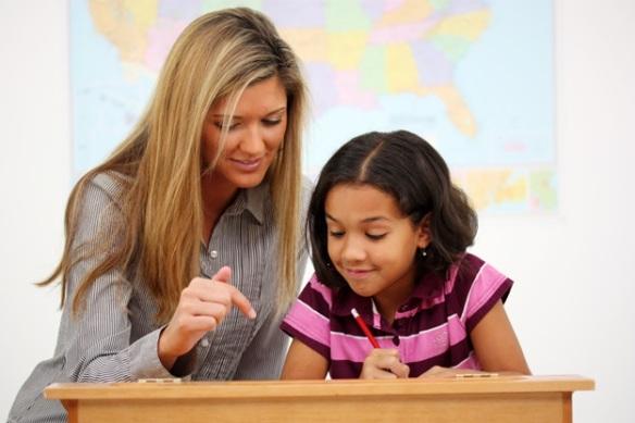 teacher little girl