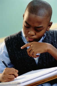 boy writing 2