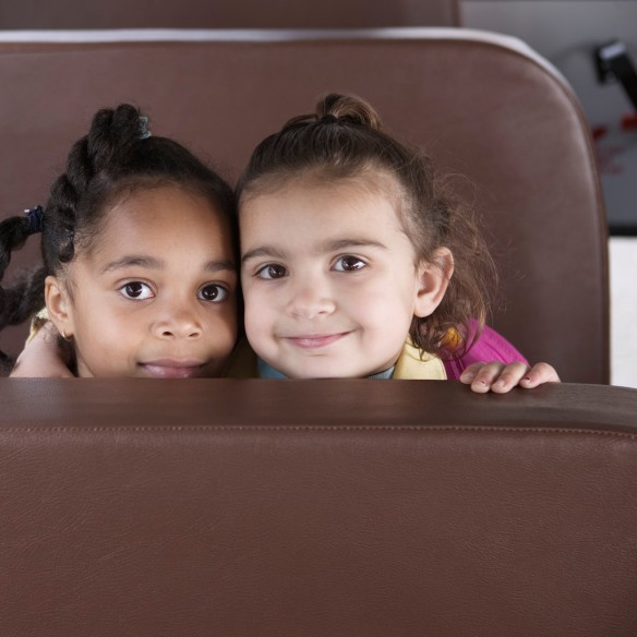 Kids on School Bus --- Image by © Royalty-Free/Corbis